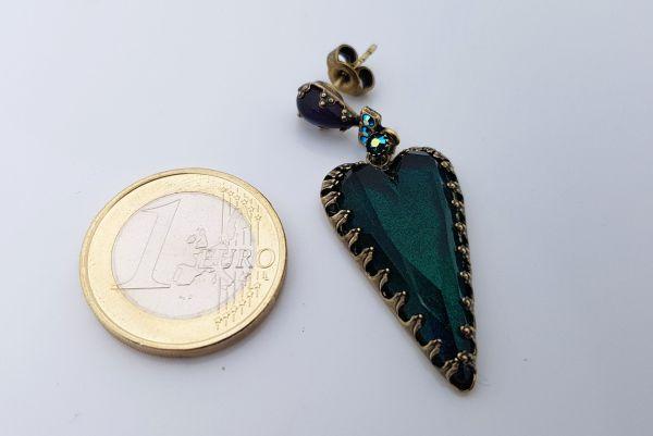 Konplott Snow White Ohrstecker in blau/grün Größe M 5450543758176