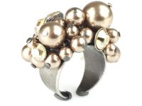 Konplott Pearl Shadow crystal golden shadow Ring 5450527598804