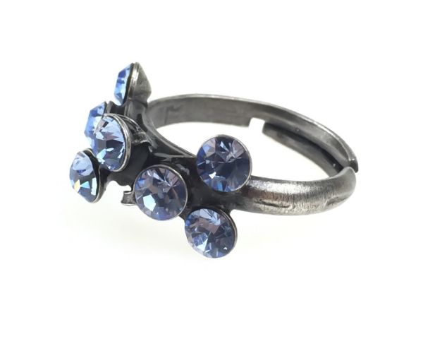 Konplott Magic Fireball 8 Stein Ring in light sapphire, hellblau 5450527612050