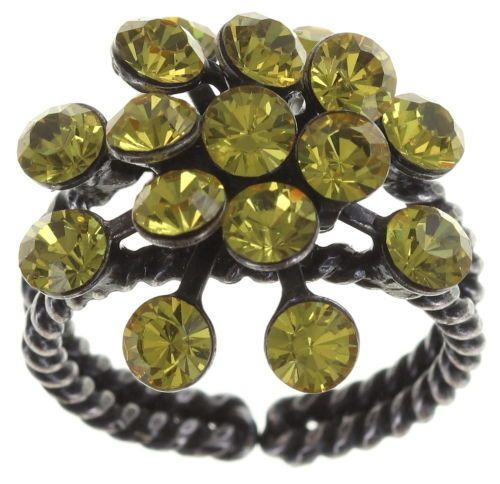 Konplott Magic Fireball 16 Stein Ring in light topaz 5450527640633