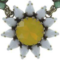 Vorschau: Konplott Sunflower Halskette in gelb/weiß/grün Größe L 5450543737546