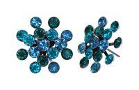 Konplott Magic Fireball Ohrstecker Emerald Blue in Classic Size 5450543936307