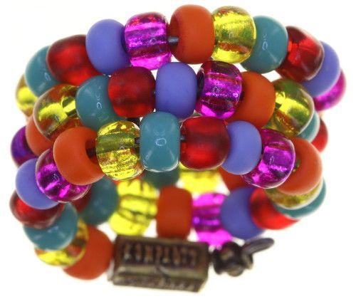 Konplott Massai Goes Fishing Ring in multi rainbow 5450543812373