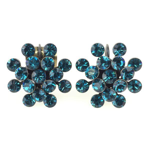 Konplott Magic Fireball Ohrhänger mit Klappverschluss in indicolite, blau 5450527640220