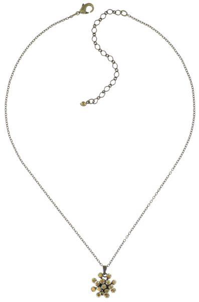 Konplott Magic Fireball Halskette mit Anhänger gold mini 5450543683294