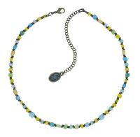 Konplott Petit Glamour d'Afrique Halskette in blau/gelb 5450543913698