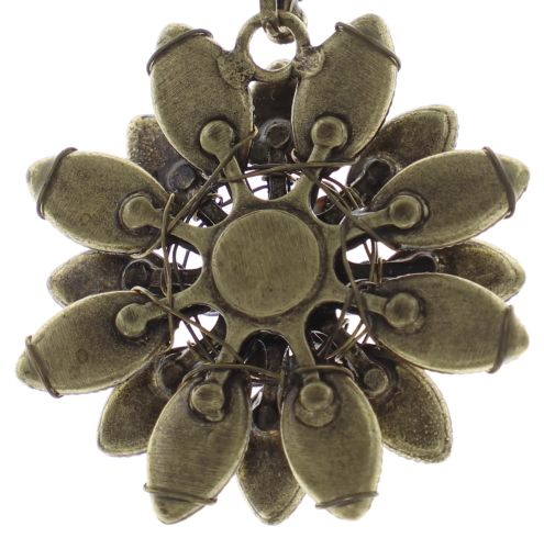 Konplott Psychodahlia Halskette mit Anhänger in gelb Messing 5450543730370