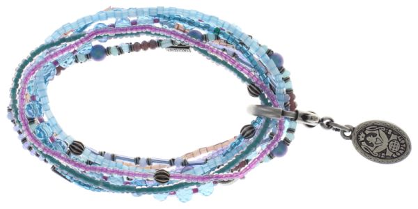 Konplott Petit Glamour d'Afrique Armband in lila/blau 5450543722344