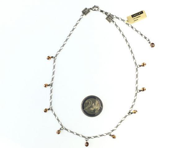Konplott Tutui light smoked topaz Halskette steinbesetzt, hellbraun 5450527641074