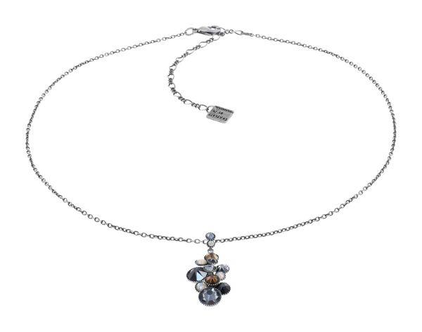 Konplott Water Cascade Halskette in Silver Carbon schwarz 5450543907598