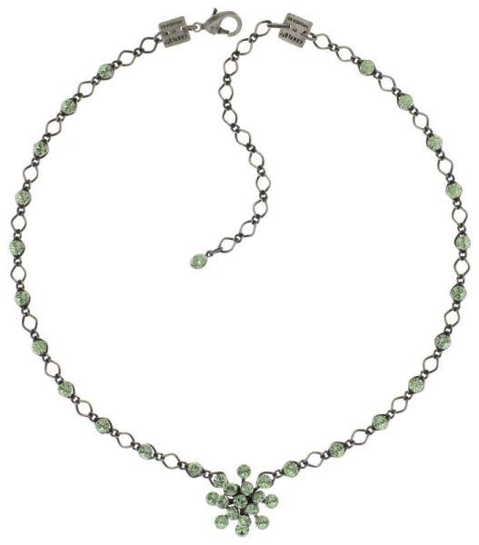 Magic Fireball Halskette steinbesetzt mit Anhänger in chrysolite, hellgrün