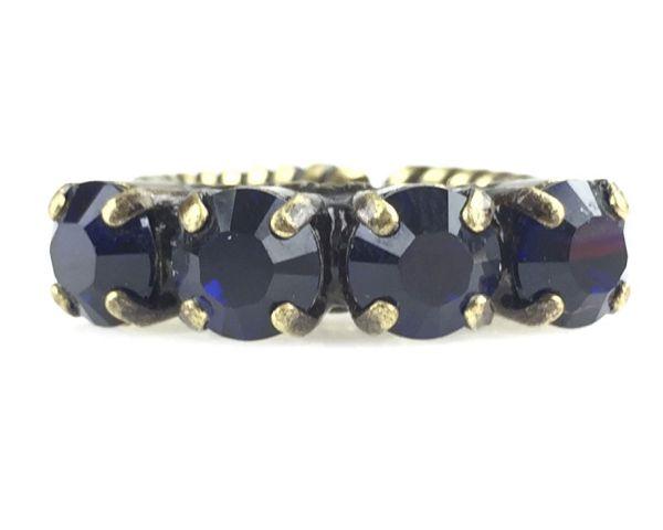 Konplott Colour Snake Ring in Dark Indigo, dunkelblau 5450527640893