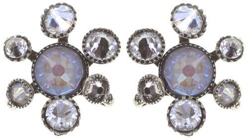 Konplott Alien Caviar Ohrring Crystal Clear *Neu: Fassung aus Titan 5450543895574