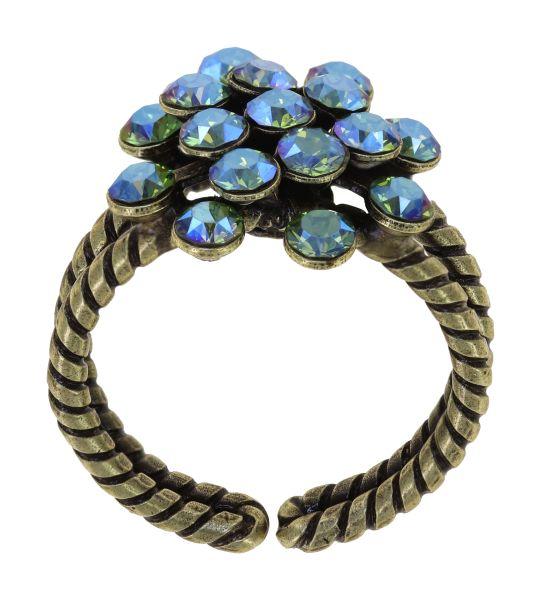 Konplott Magic Fireball Ring in green erinite shimmer mini 5450543914978