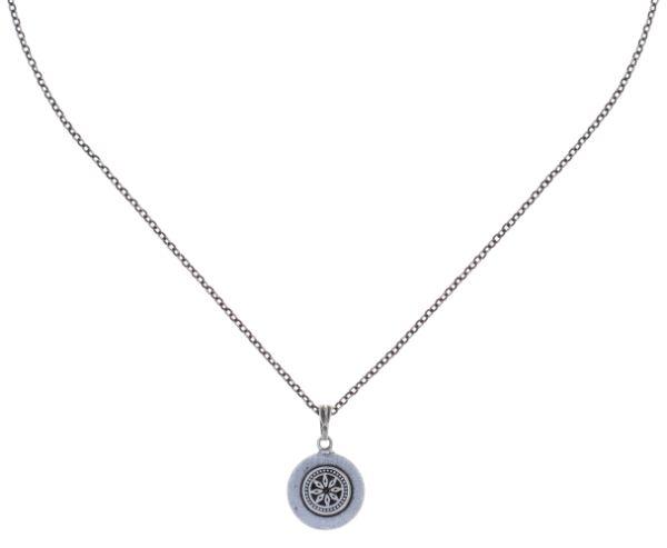 Konplott Simply Beautiful Halskette mit Anhänger in weiß 5450543780764