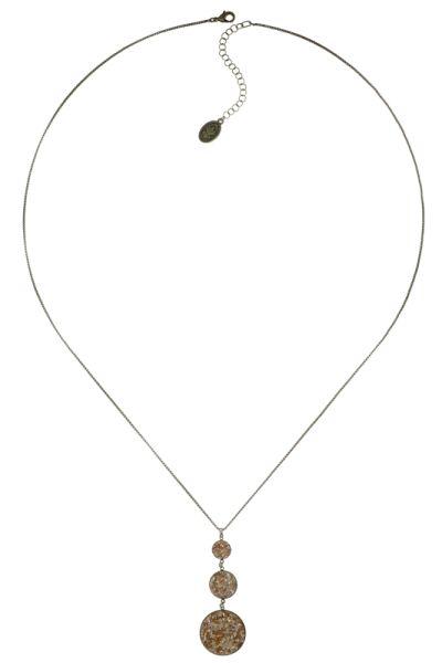 Konplott Studio 54 Halskette mit Anhänger in gold gelb Messing 5450543749112
