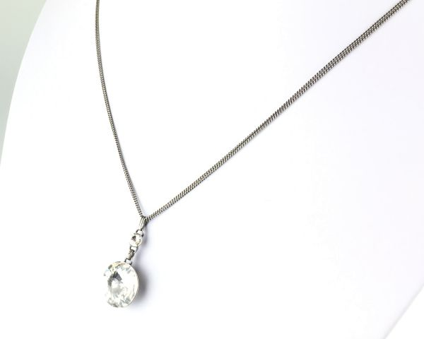 Konplott Rivoli crystal weiße Halskette lang mit Anhänger 5450527614276