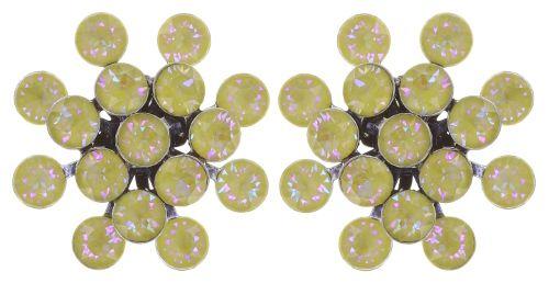 Konplott Magic Fireball Ohrstecker klassisch in lemon jelly crystal sunshine de lite 5450543852843