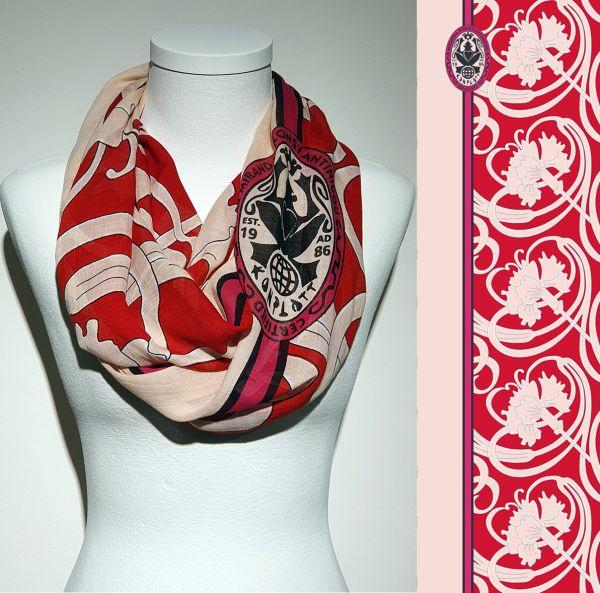 Konplott Schal Floral 10 in rosé/rot 5450543806969