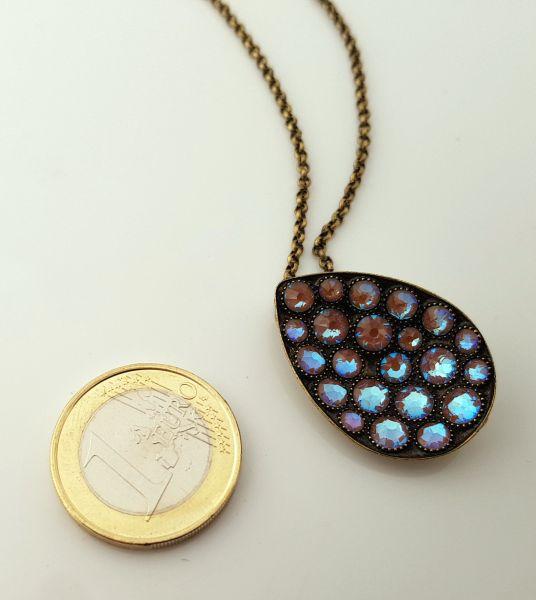 Konplott Tears of Joy Halskette mit Anhänger in braun crystal cappucci Größe L 5450543767499