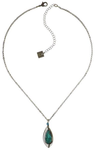 Konplott Amazonia Halskette mit Anhänger in blau/grün, Größe S 5450543760698
