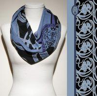 Vorschau: Konplott Schal Floral 8 in schwarz/blau 5450543806921