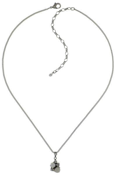 Konplott Ballroom Classic Glam Halskette mit Anhänger in weiß 5450543654089