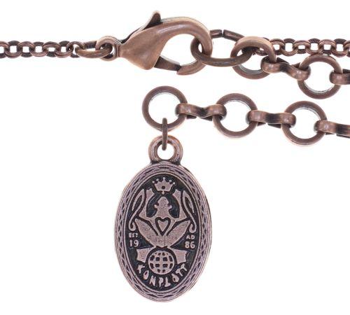 Konplott Amazonia lange Halskette mit Anhänger in braun, Größe L 5450543753393