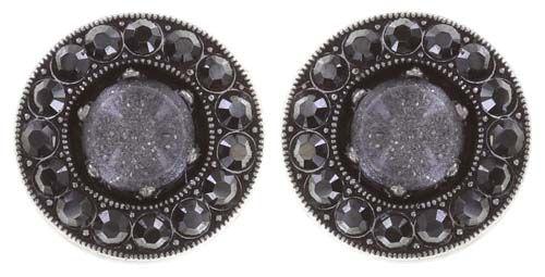Konplott Simply Beautiful Ohrstecker in schwarz 5450543745404