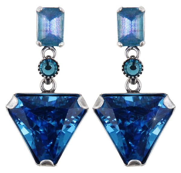 Konplott Mix the Rocks Ohrstecker in crystal blau 5450543790190