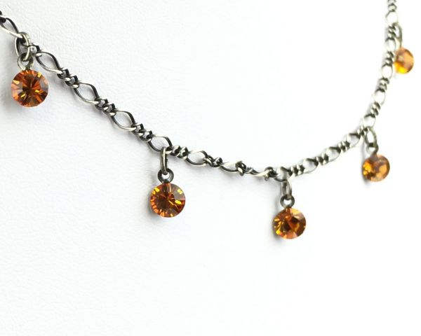 Konplott Tutui topaz Halskette steinbesetzt, gelb/braun 5450527641333