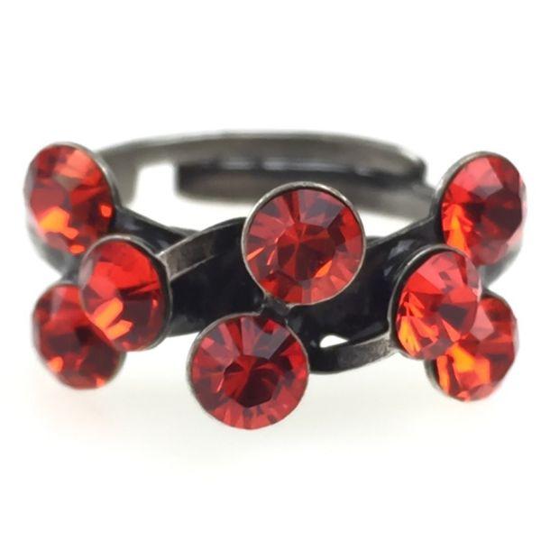 Konplott Magic Fireball 8 Stein Ring in hyacinth, rot/orange 5450527640404