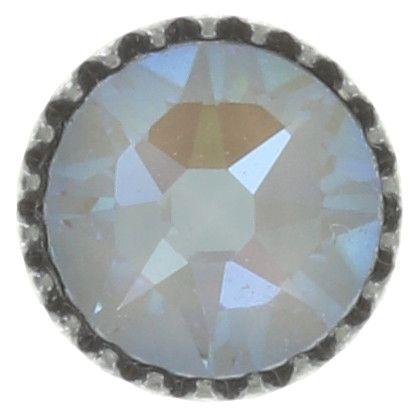 Konplott Black Jack Ohrstecker klein in weiß crystal grau 5450543768854
