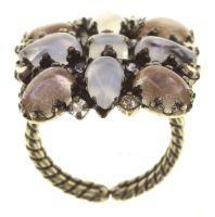 Vorschau: Konplott Mary Queen of Scots Ring Champagne weiß/beige 5450543892214