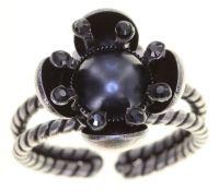 Vorschau: Konplott Petit Fleur de Bloom Ring in schwarz carbon bloom 5450543799131