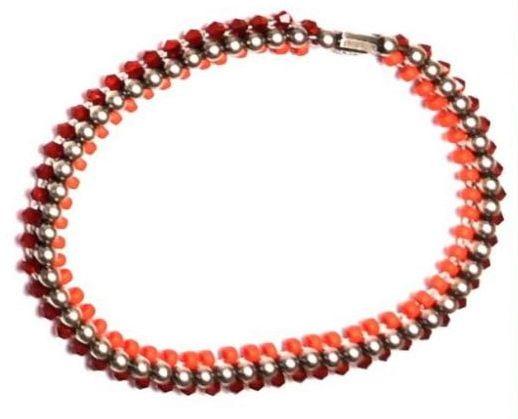 Konplott Bead Snakes elastisches Armband rot 5450543662411
