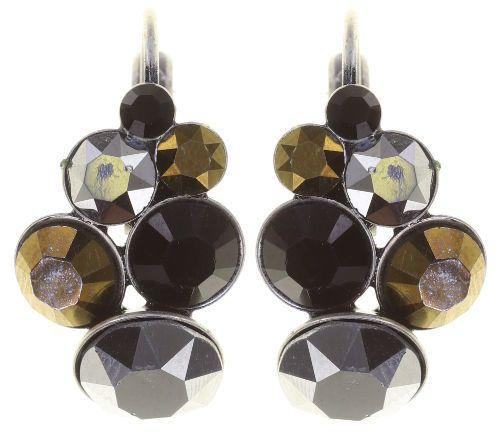 Konplott Petit Glamour Ohrhänger Meteor in schwarz/braun 5450543880044