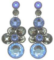 Konplott Water Cascade Ohrhänger in blau/braun 5450543753928