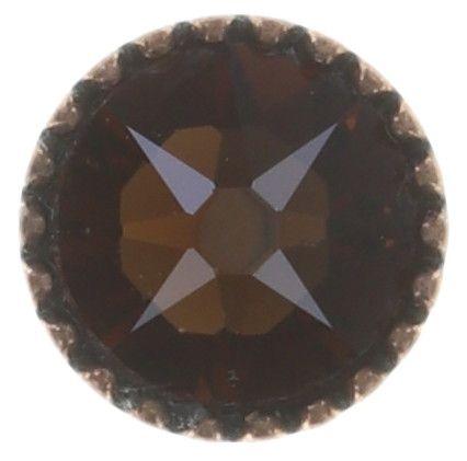 Konplott Black Jack Ohrstecker klassisch klein in braun/orange smoked topaz 5450543750453
