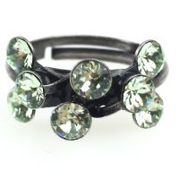 Konplott Magic Fireball 8 Stein Ring in chrysolite, hellgrün 5450527612135