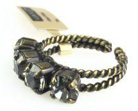 Vorschau: Konplott Colour Snake Ring in Black Diamond, kristall schwarz 5450527132558