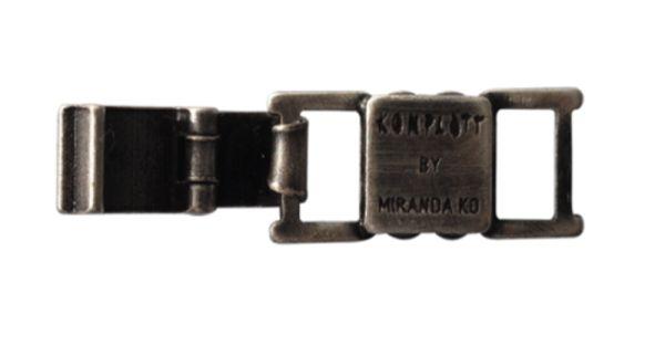 Konplott Armband Verlängerung groß in dunklem silber/schwarz 5450527800471