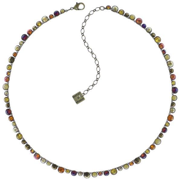 Konplott Water Cascade steinbesetzte Halskette in braun/orange 5450543772929