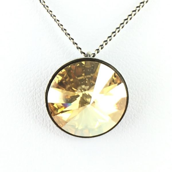 Konplott Rivoli crystal golden shadow Halskette mit Anhänger 5450527640787