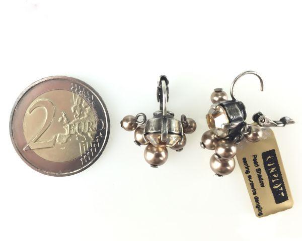 Konplott Pearl Shadow crystal golden shadow 5 Perlen Ohrhänger mit Klappverschluss 5450527598774