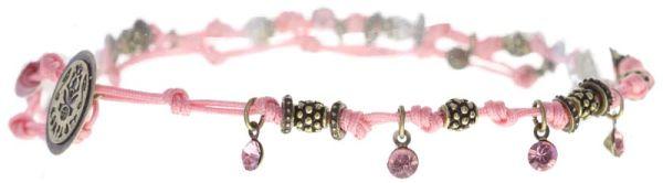 Konplott Festival Anklet Fußkette rosa Messing 5450543746999