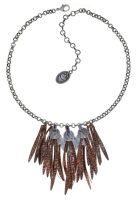 Vorschau: Konplott Global Glam Halskette in copper blau 5450543791265