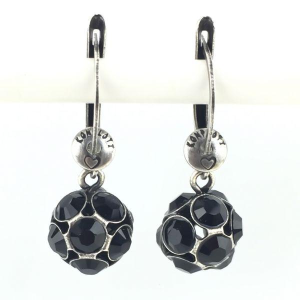 Konplott Disco Balls schwarze Ohrhänger mit längl. Verschluss 5450527598545