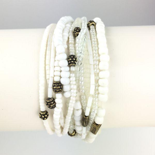 Konplott Petit Glamour d´ Afrique weißes Armband elastisch 5450527407236