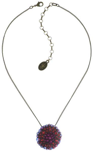 Konplott Inside Out Halskette mit Anhänger Größe L in scarlet rot 5450543675886